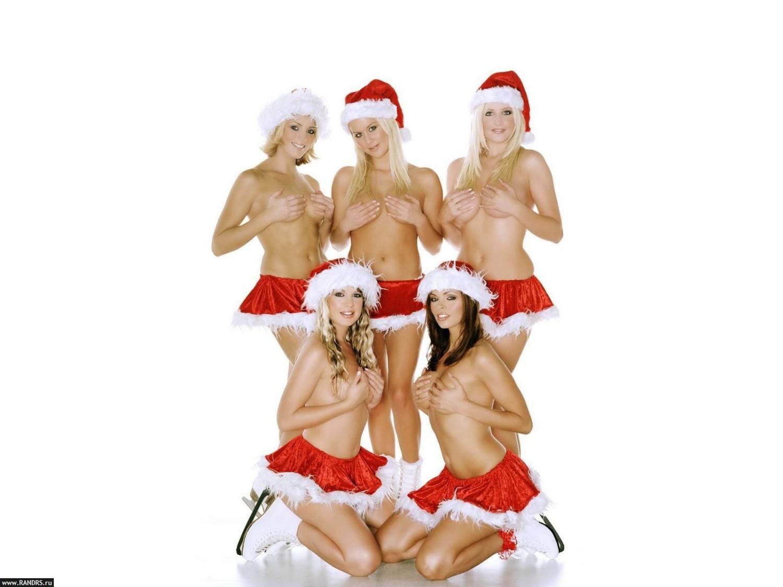 Santa s topless elves sexy scenes